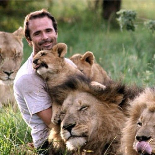 Wow. Kevin Richardson the @lionwhispererSA & a Silver Lining who makes my heart & soul so very happy!