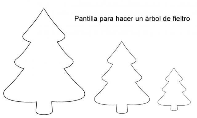 Hacer un árbol de Navidad de fieltro - Plantilla para el contorno