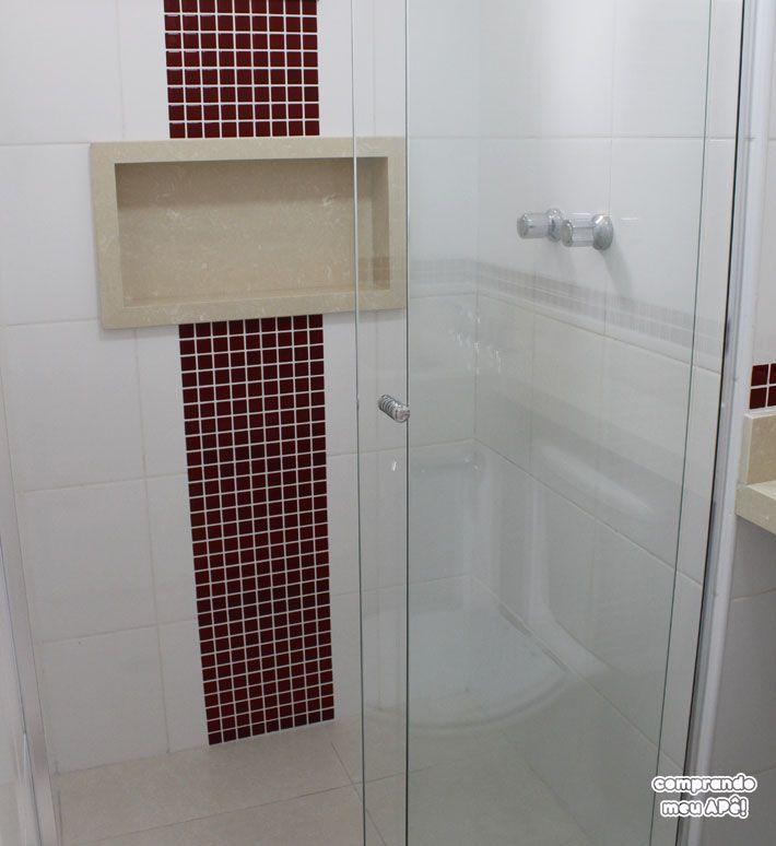 25+ melhores ideias sobre Pastilhas Adesivas Para Banheiro no Pinterest  Pas -> Banheiro Com Faixa De Pastilha Vermelha