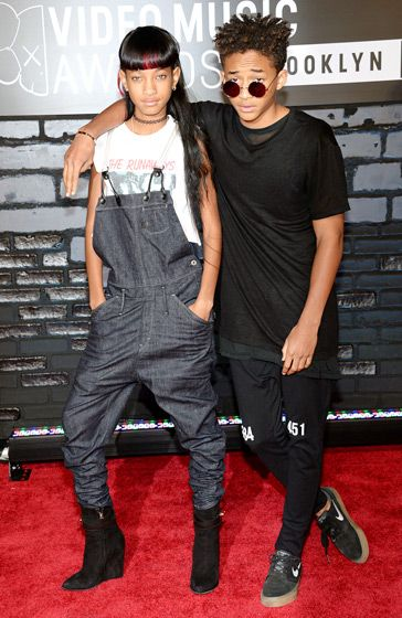 Willow and Jaden Smith at 2013 MTV VMAs | She looks so much like her mom, and he's got his dad's look, for sure!!