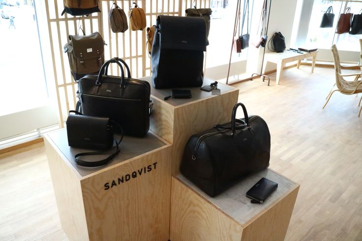 Podiums / bag display for swedish brand Sandqvist. #sandqvist #bags #podium #display #interiordesign #dawnofideas #showroom