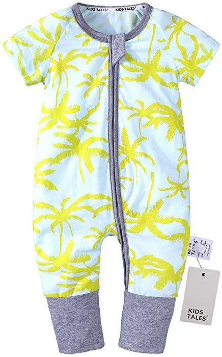 b1c6863886a4 Amazon.com  Kids Tales Baby Boys Girls Zipper Short Sleeve Pajama ...