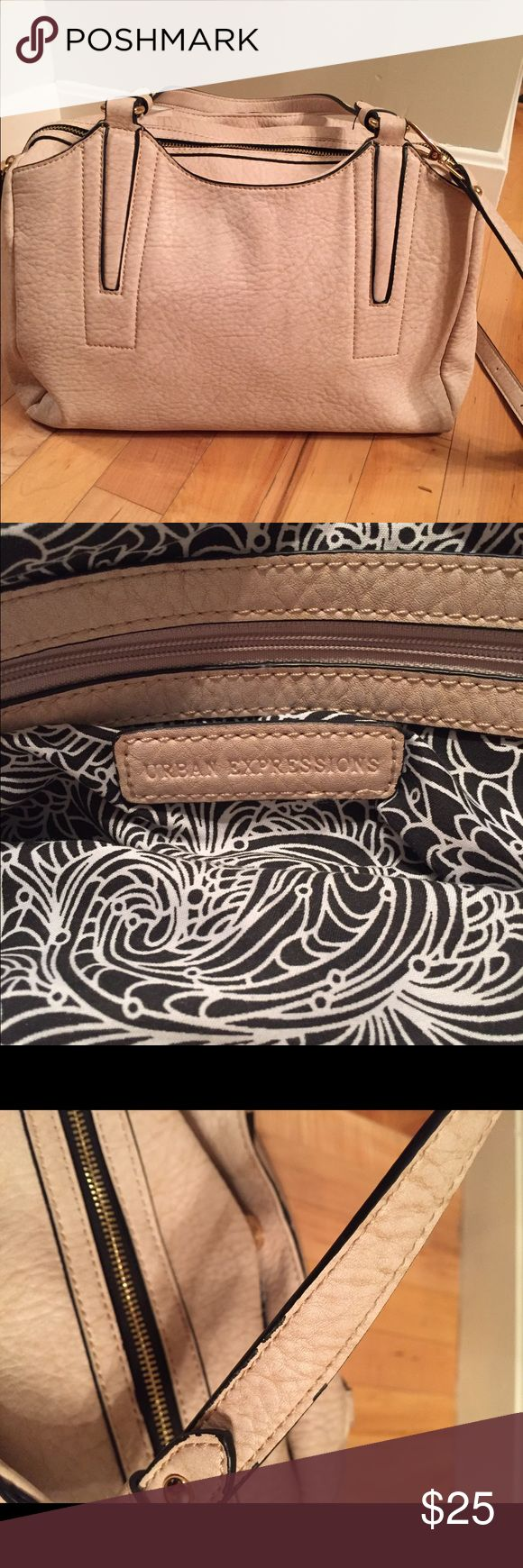 Urban expressions Luis Satchel Vegan purse. Originally purchased from Stitch Fix for $68. Stitch fix listed it as a cross body satchel. It can be used either way. I only used for a couple of months. Slight wear on the handles so discounted price. See pictures. Urban Expressions Bags Satchels