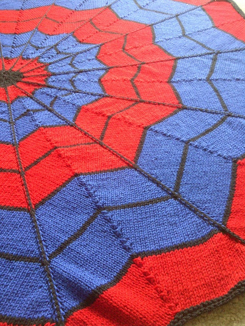 Spiderman Blanket Knitting Pattern : Quinns Spiderman Blanket - Hes going to go NUTS! Crafts // Fibre ...