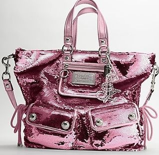 not a fan of coach, but totally a fan of pink and sparkles
