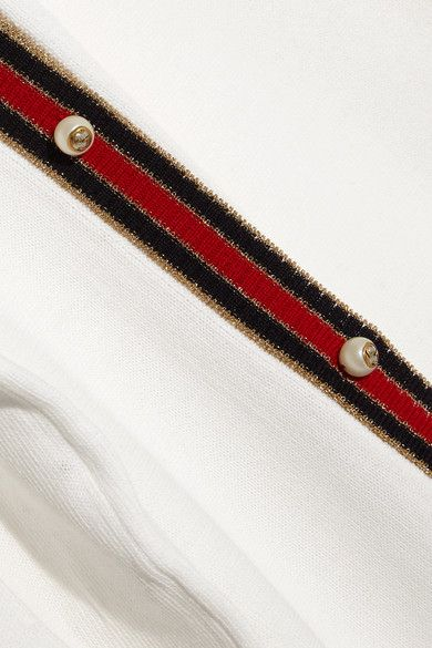 Gucci - Striped Wool Cardigan - Ivory -