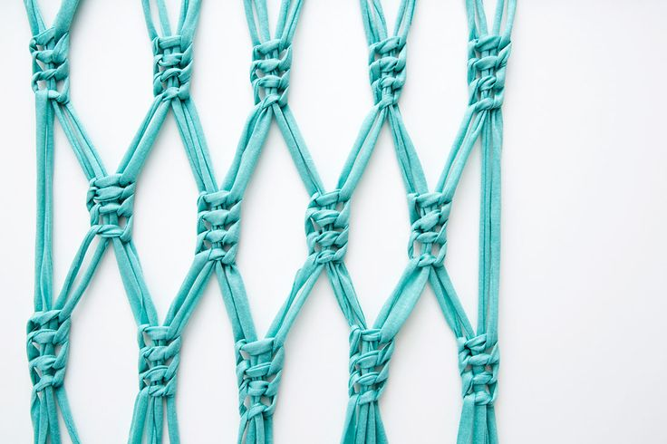 Macrame wall hanging... or maybe window curtains.