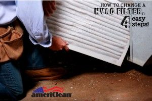 Need help changing a HVAC filter in your home? Trust the pros at AmeriClean to help! With this easy 4 step guide you'll be on your way in no time at all! // On the blog! #nwindiana  http://americleaninc.com/change-a-hvac-air-filter-in-4-easy-steps/