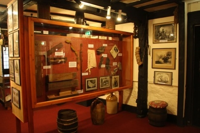 // daphne du maurier's smugglers museum at jamaica inn. home to a fine collection of historical smuggling artifacts.