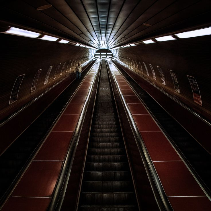 #prague #praga #czechrepublic #metro #stairs