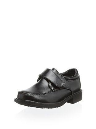 58% OFF Joseph Allen Kid's Dress Shoe with Hook-and-Loop Strap (Black)