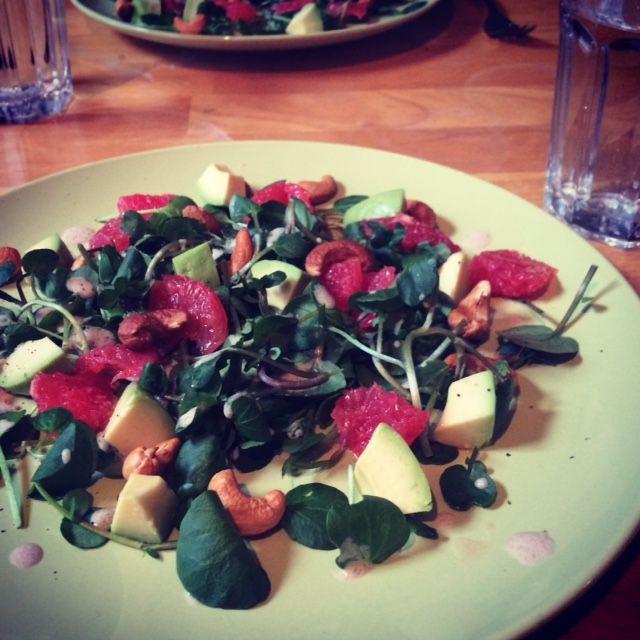 Waterkers salade met grapefruit @www.fleurpasman.com