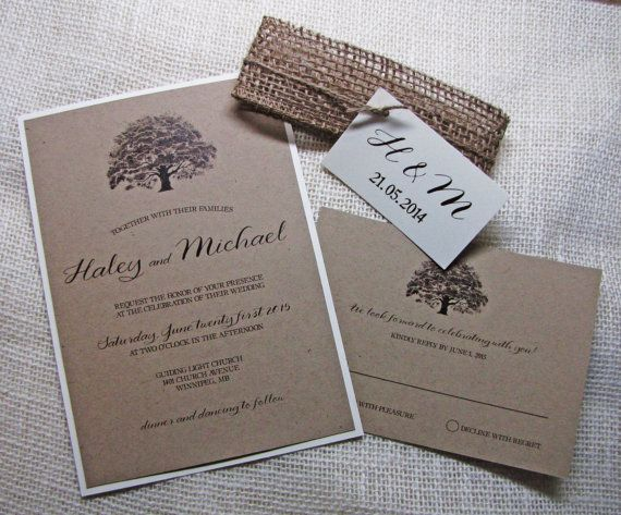 17 Best images about invitations on Pinterest   Rustic wedding ...