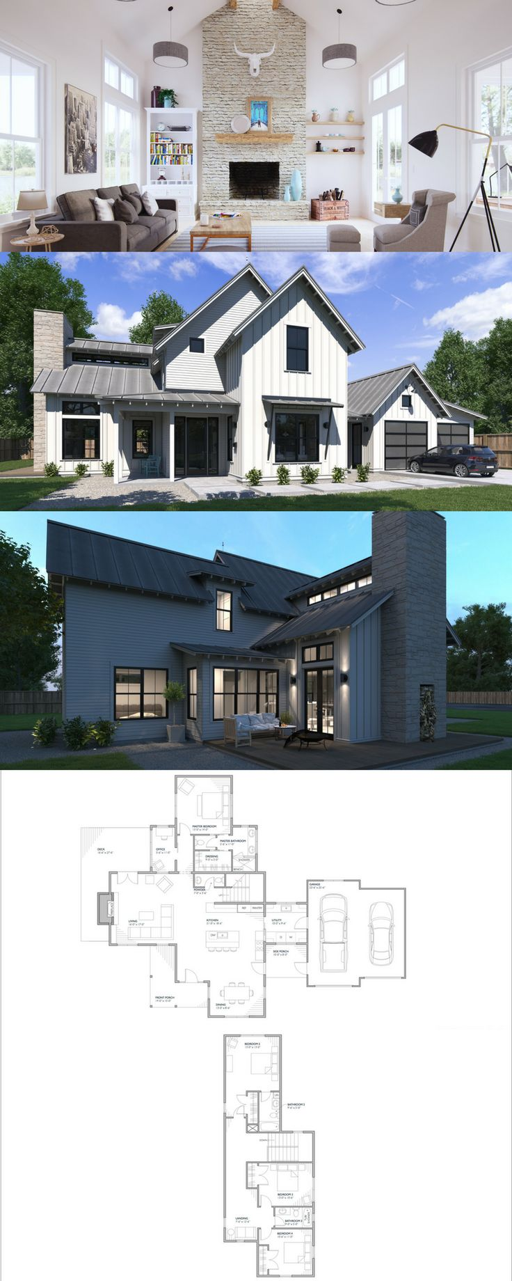 The Normande! Residential Architecture, Online House Plans, Online Floor Plans, Farmhouse Floor Plans, Family Homes, Architecture, Residential Plans, Modern Farmhouse Style, Modern Farmhouse Design, Farmhouse Style, Farmhouse Design, Modern Farmhouse Floor Plan, Farmhouse House Plan, Modern Farmhouse House Plan.