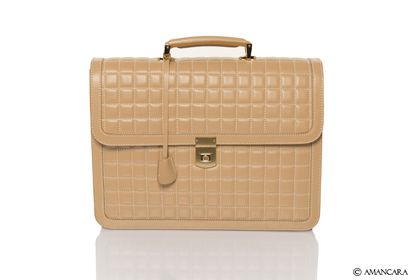 Our new quilted briefcase is a classic look for a feminine woman.