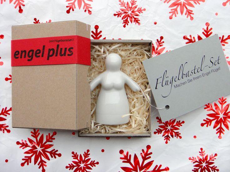 """DIY-Porzellanengel """"Frau Engel plus"""", weiss von Karin Sehnert auf DaWanda.com"""