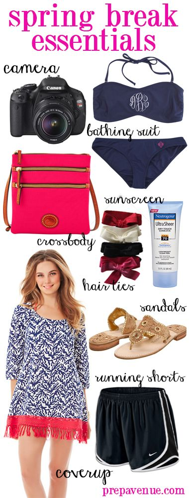 Spring Break Travel Essentials | www.prepavenue.com