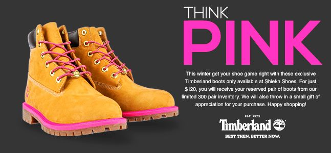 Buy Timberland Boots with Pink Trim for Women | Shiekh Shoes Exclusive