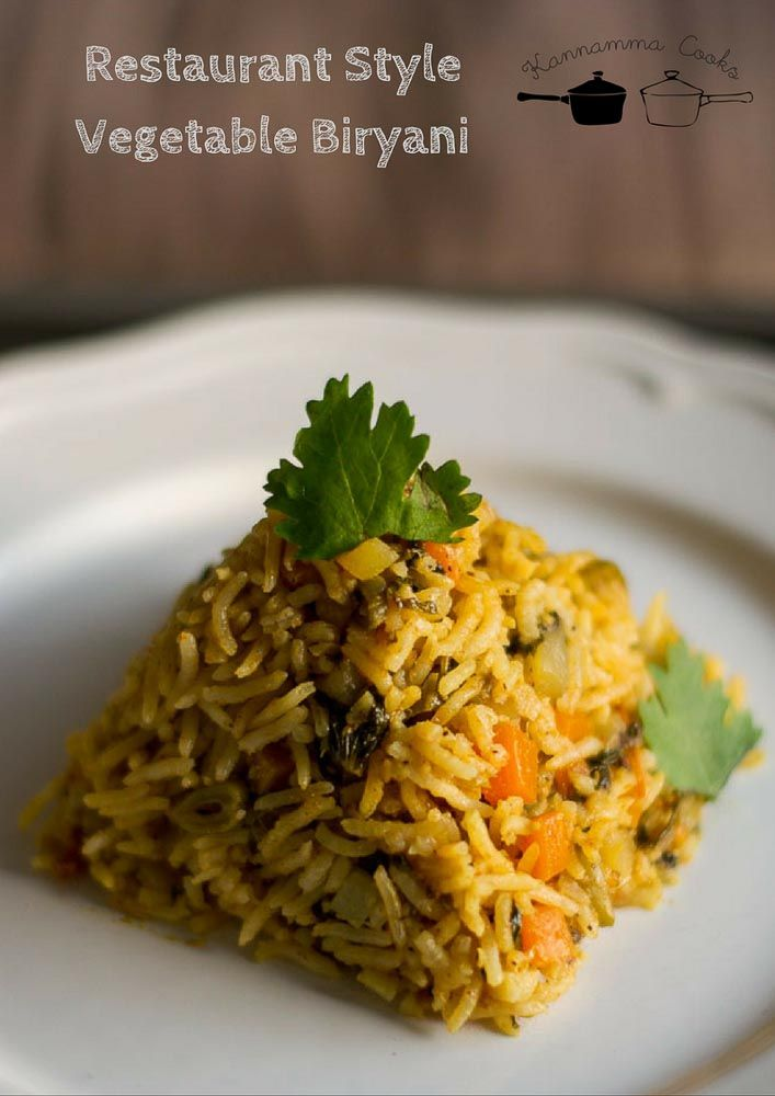 restaurant-style-vegetable-biriyani