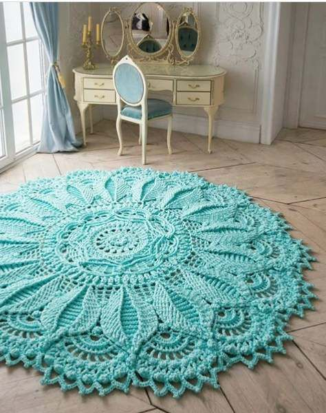 These beautiful Carpet Crochet Doily Rug Pattern Ideas!!