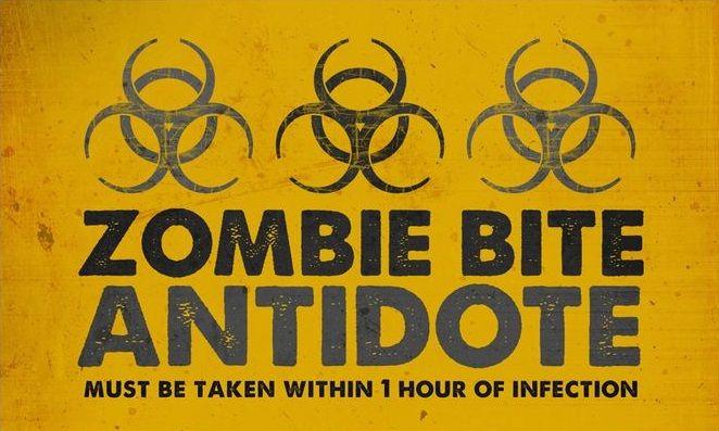 Quot Zombie Bite Antidote Quot Bottlelabel Zombie Halloween