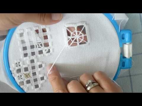 Tathinha Bordados #17 - PONTO ROSETA HARDANGER - BORDADO - YouTube More