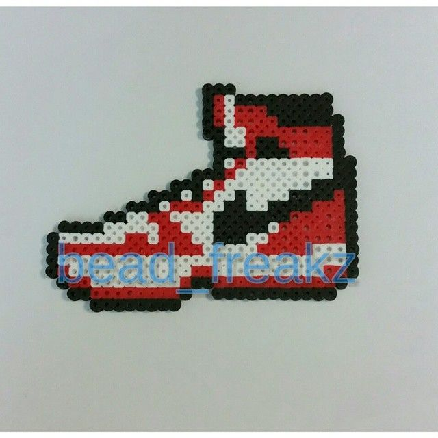 Air Jordan perler beads by bead_freakz