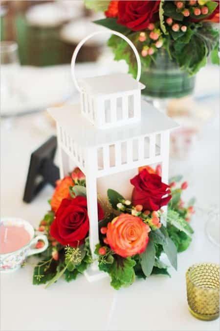 lanterne blanche pas cher pour déco de mariage