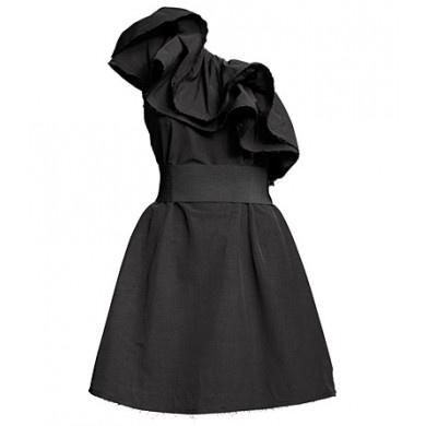 this is so beautiful: Women Dresses, Flounce Dresses, Cute Dresses, One Shoulder, Shoulder Flounce, Black Silk, Little Black Dresses, Lbd, Cute Bridesmaid Dresses