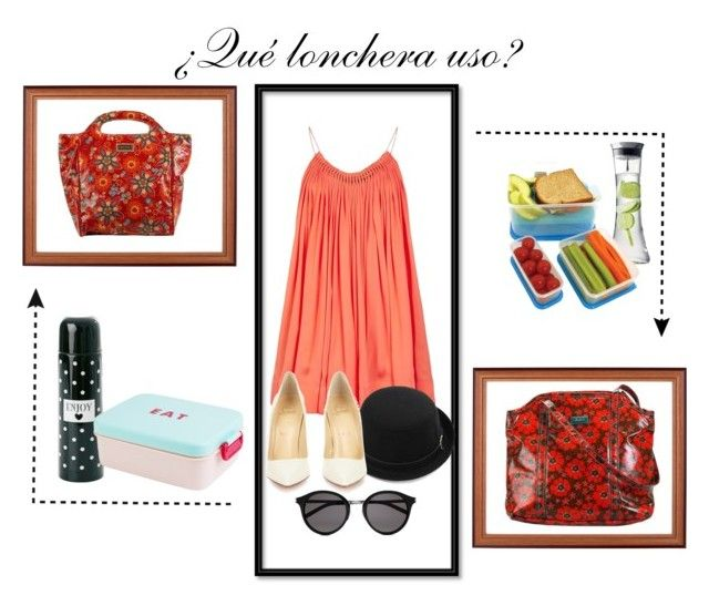 """Lonchera"" by tiendabirdy on Polyvore featuring Hadaki, STELLA McCARTNEY, Christian Louboutin, Yves Saint Laurent and Menu"