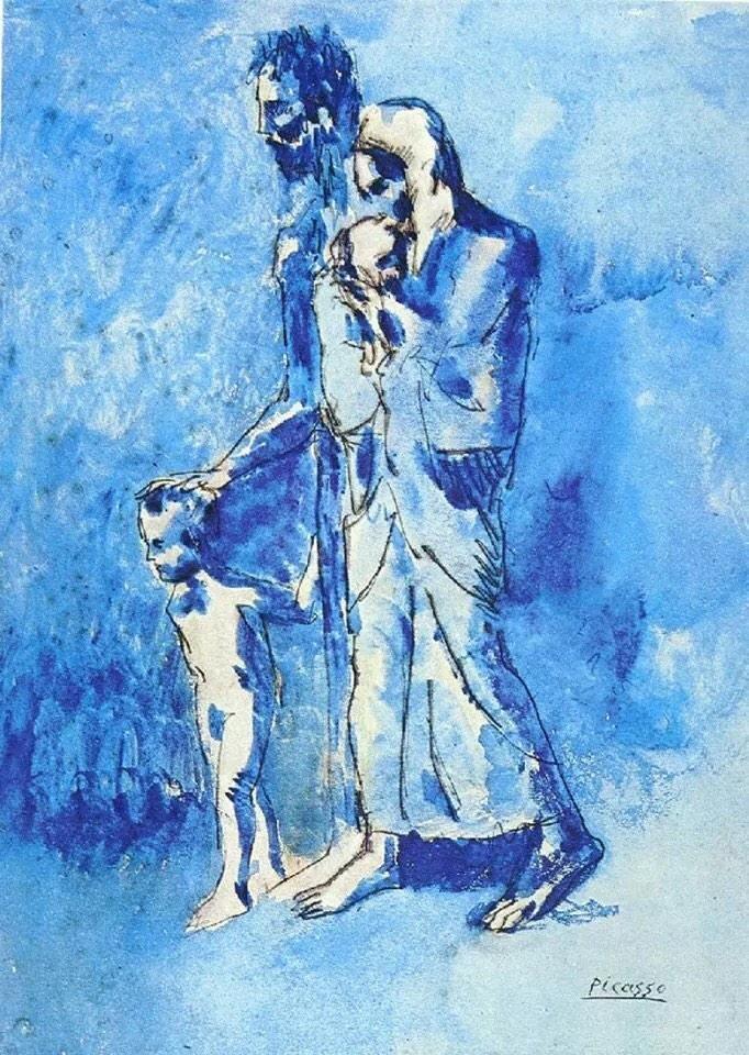 Pablo Picasso「La famiglia dell'uomo cieco」(1903)