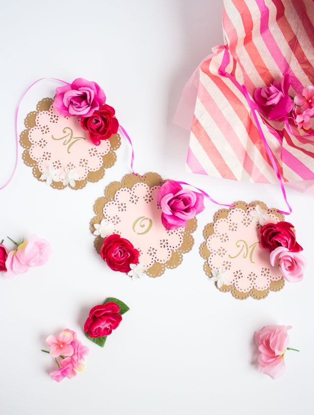 Surprise mom on Mother's Day with this handmade floral mom garland packaged in pretty box!