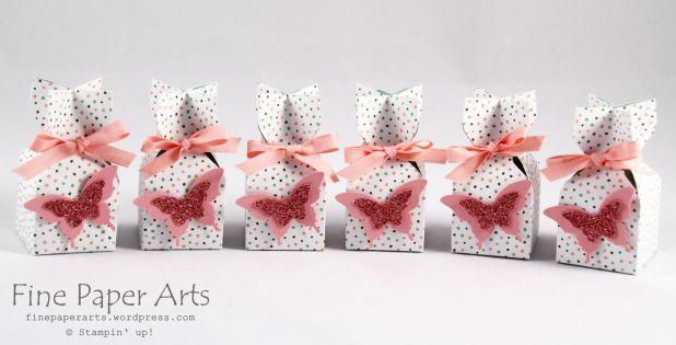 Stampin Up - Goodies, Envelope Punch Board Box, Verpackung Stanz und Falzbrett für Umschläge, DSP Geburtstagsstrauß, Schmetterling, Kirschblüte, Birthday Bouquet Designer Series Paper - Fine Paper Arts