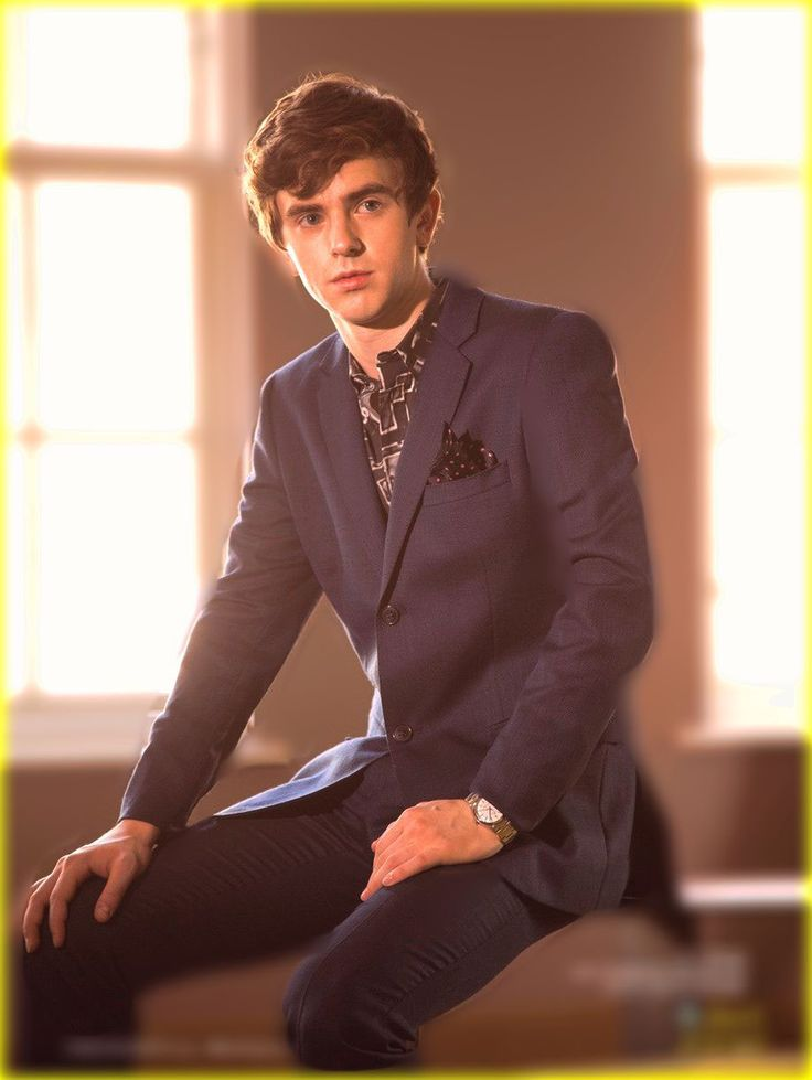 Freddie Highmore as Mycroft Holmes.