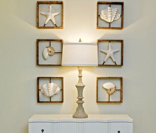 Beach Shell Wall Art   Beach Decor Ideas