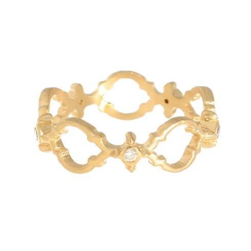 Greenwich Jewelers | Megan Thorne Yellow Gold Lattice Diamond Band Ring