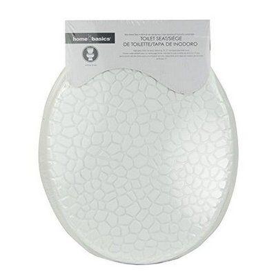 Home Basics MDF Pebbles Elongated Toilet Seat