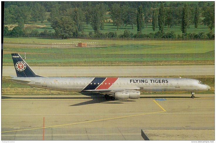 C0683mdt Transport Flying Tigers Airlines DC8 Aircraft Postcard - Cartes Postales