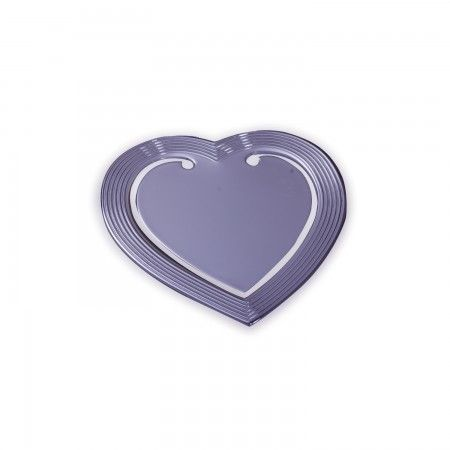 Heart shaped silver bookmarker that can be engraved to make a truly personalized romantic or valentine's gift.