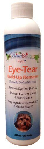 Betta Bridges Eye-Tear Build-Up Remover for puppies, cats, dogs, pets. Our product comes in 120g, ak, and available with pads if requested. Your pets will love our dog tear stain, Pet tear stain remover for maltese and all dog breeds. Our tear stains remover is one of the best all natural for use with dogs like the poodle, bull dog, shih tzu, tear stain remover, dog eye stain removal solution, eliminator aids in tear stain removal. Limited Supply. 100% MONEY BACK GUARANTEE! -