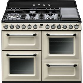 Smeg 110cm freestanding thermoseal electric/gas cooker with an A energy rating (model TRA4110P)  for sale at L & M Gold Star (2584 Gold Coast Highway, Mermaid Beach, QLD). Don't see the Smeg product that you want on this board? No worries, we can order it in for you!