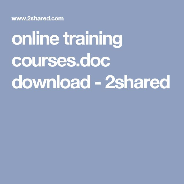 online training courses.doc download - 2shared