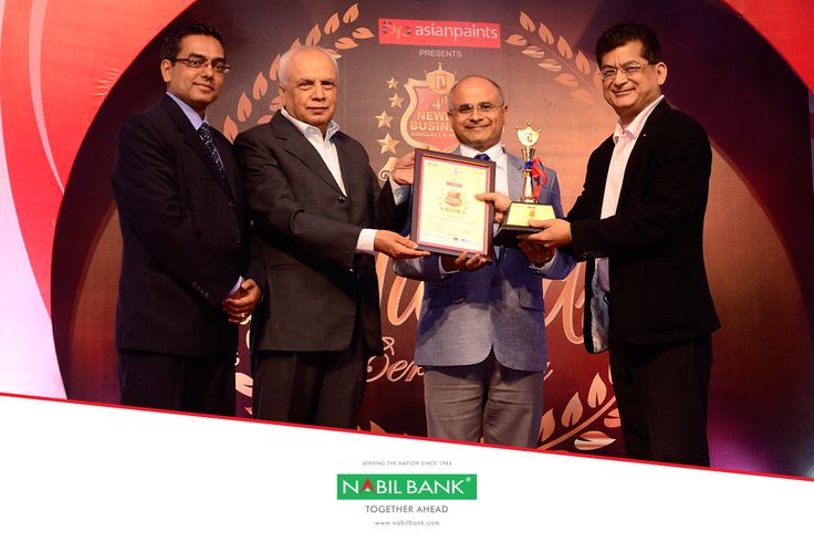 "Nabil Bank has been conferred ""Best Managed Commercial Bank Award 2017"" at the 4th Newbiz Business & Conclave held on September 22, 2017. The NewBiz Award is one of the most prestigious awards in Nepal. The award was handed over to Mr Sashin Joshi, Chief Executive Officer of Nabil Bank by Mr. Bijay Nath Bhattarai, Former Governor, Nepal Rastra Bank."