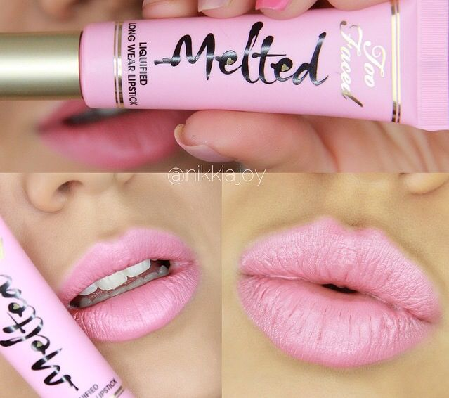 Two faced melted lipstick in melted peony