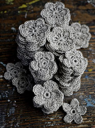 crocheted flowers   Flickr - Photo Sharing!