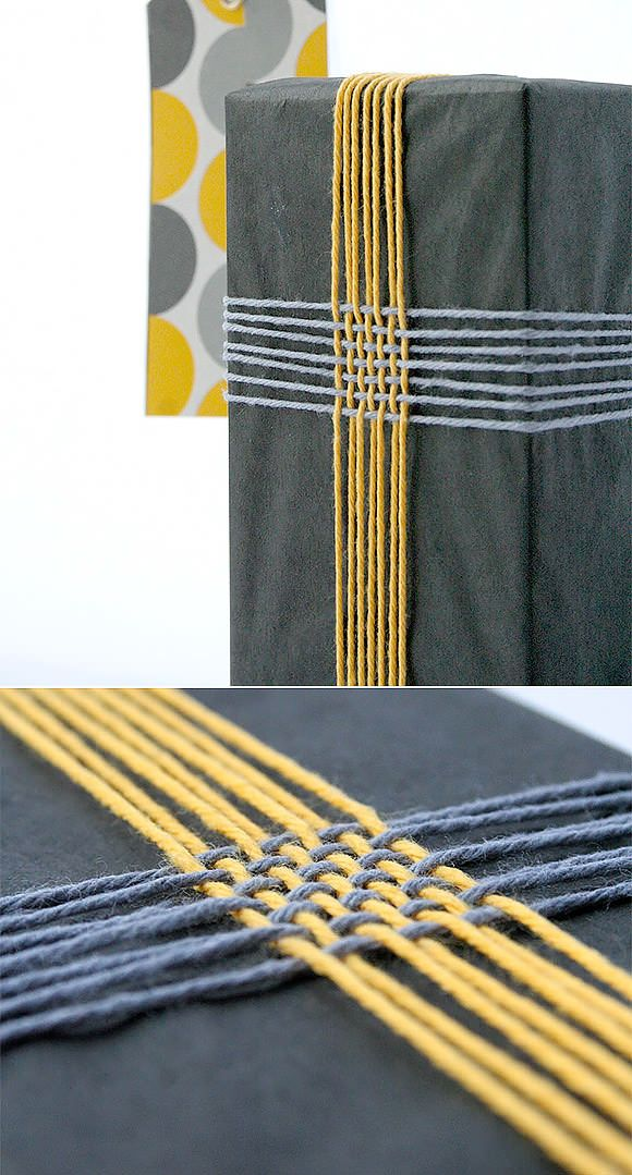 DIY Gift Wrap Ideas:Braided Twine--this would be sweet with ribbons or yarns, too!