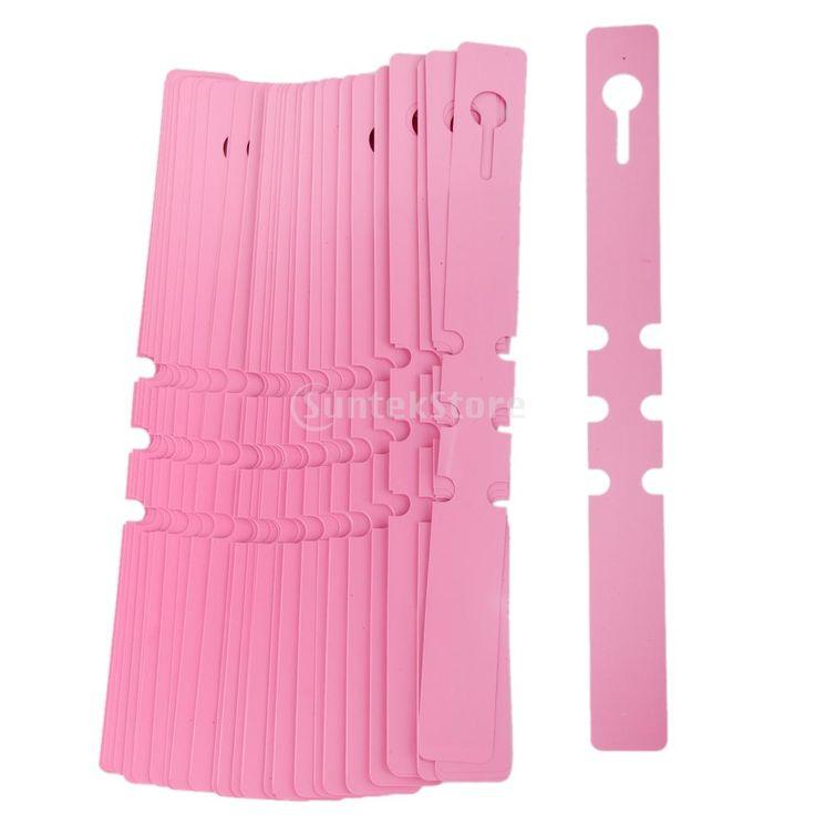 100pcs PVC Greenhouse Gardening Plant Stake Hanging Collar Tag Label Pink