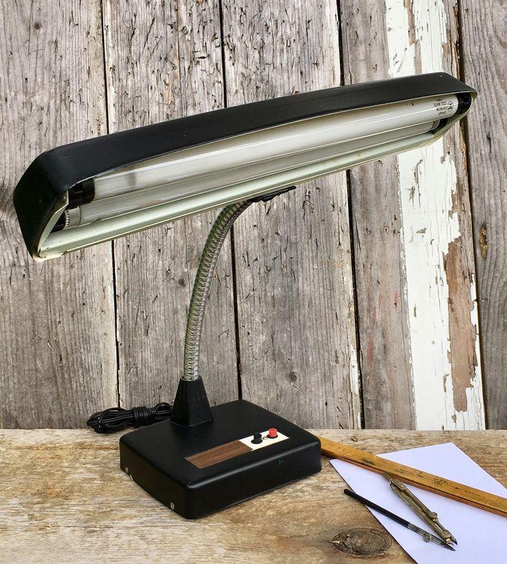 Vintage Gooseneck Desk Lamp 2 Drawer Desk