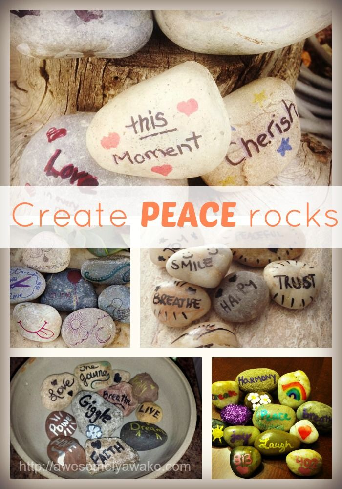 Simple, DIY Peace Rocks for busy moms who want to stay calm all day long.