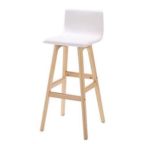 Bxcgdicd Bar Stool Solid Wood Bar Chair 丨 High Foot Dining Chair